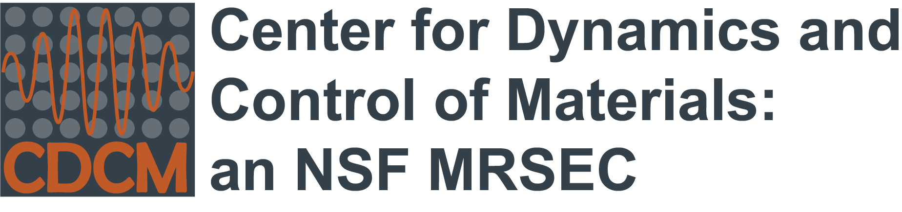 Center for Dynamics and Control of Materials: an NSF MRSEC logo